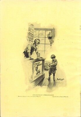 Financially embarrassed in store Cream of Wheat ad 1917