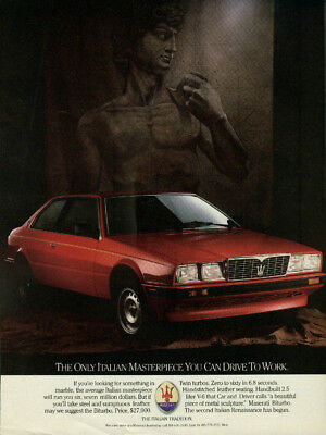 The only Italian Masterpiece you can drive to work Maserati Biturbo ad 1986