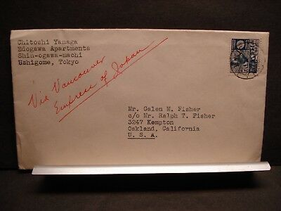 Ocean Liner RMS EMPRESS of JAPAN Naval Cover TOKYO to VANCOUVER to OAKLAND, CA