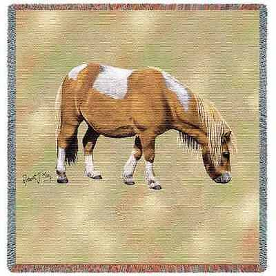 Lap Square Blanket - Shetland Pony by Robert May 2374