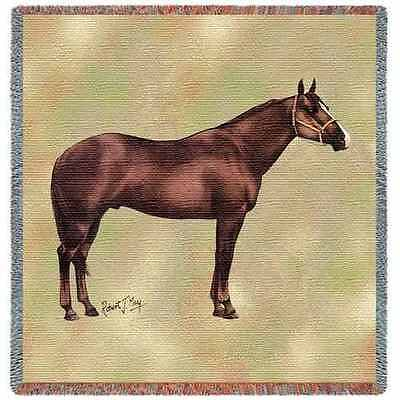 Lap Square Blanket - Quarter Horse II by Robert May 2377