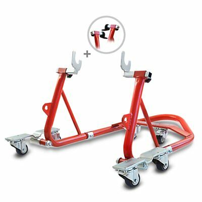 Rear Paddock Stand Dolly Suzuki GSX-R 1000 ConStands Mover I Racing Red