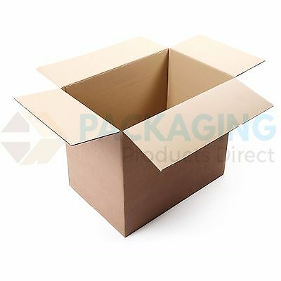 """24HR DEL 10 LARGE REMOVAL STORAGE CARDBOARD BOXES 22x14x14/"""" FOR MOVING PACKING"""