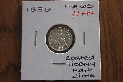 1856  Unc+++  Seated Liberty Half Dime