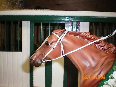Jaapi White RACING/English bridle - fits Breyer Traditional, not for real horses