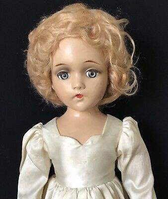 """21"""" Madame Alexander Composition Wendy Ann Doll W/ Mohair Wig, As Is"""