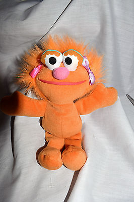 """Estate 8"""" Tall Sesame Street Orange Girl with Puprle Bow (who is it) Adorable"""