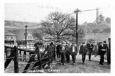 pt1799 - Cadeby Colliery miners strike 1912 , Yorkshire - photograph 6x4