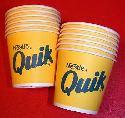 24 Vintage 1960's 70's Nestle QUIK Hot 4 oz Sample Sweetheart CUPS Old Stock NOS