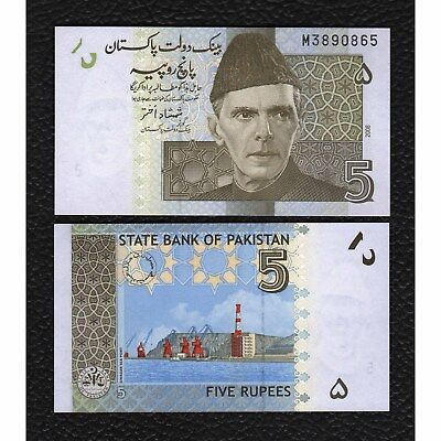 Pakistan P-53a 2008 5  Rupees-Crisp Uncirculated
