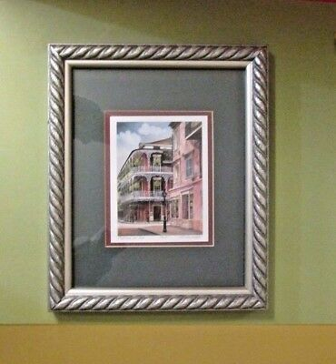 """GAIL BRYANT FILLE 1999 ROYAL & ST. PETER EP II DOUBLE SIGNED FRAMED PRINT 4""""x5"""""""