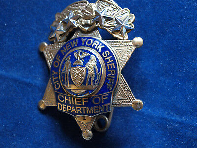 Police Badge New York City SHERIFF Chief of Department  - kein NYPD