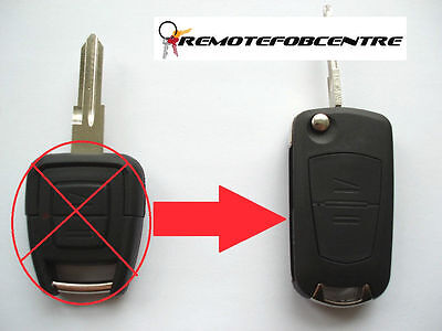2 button flip key case upgrade for Vauxhall Opel Astra G Zafira remote fob HU46