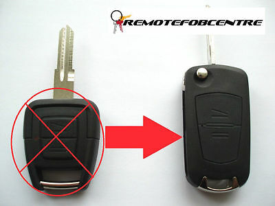 2 button flip key case upgrade for Vauxhall Opel Astra G Zafira remote fob YM28