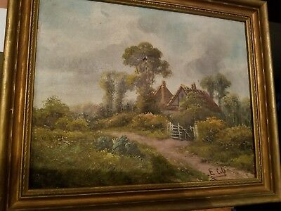 Antique Late 19th Century Framed Oil Painting on Canvas FOR RESTORATION