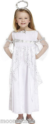 Childrens Christmas White ANGEL Nativity Dress Fancy Dress Costume Outfit Kids