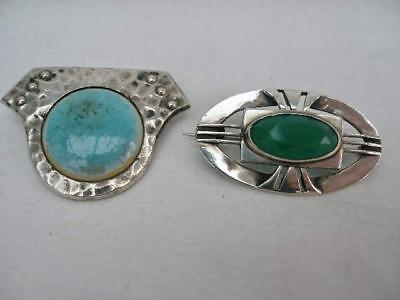 Antique Arts & Crafts Plantagenet Brooch  & One Other Silver Example.