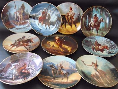 Hamilton Collection MYSTIC WARRIORS Plate Collection 10 Plates