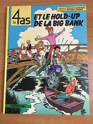 Les 4 AS - tome 22 - Le Hold-up de la big bank - EO Craenhals 1984
