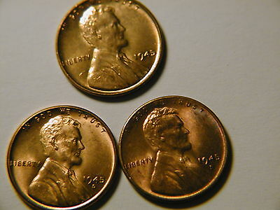 1945-S Lincoln Wheat Cent Beautiful Choice Uncirculated Red DUTCH AUCTION