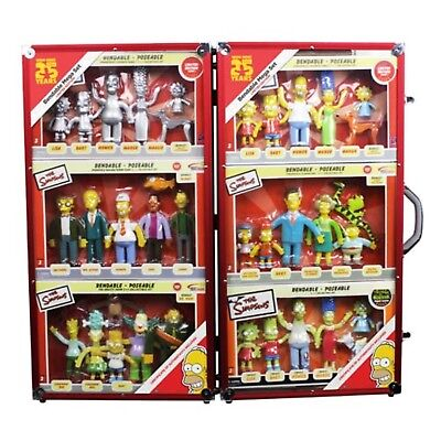 The Simpsons 25th Anniversary Bendable Figures Mega Set # 74/1000 NEW Limited