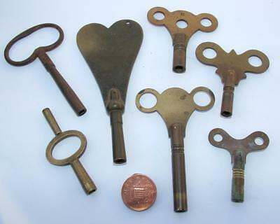 Job Lot Collection Of Old Antique Vintage Clock Winding Keys - Lot 14