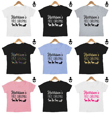 PERSONALISED FIRST CHRISTMAS, baby, cute 1st, baby grow Baby / Childs, T-Shirt