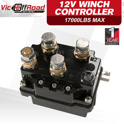 Winch Solenoid Relay Controller 12V 500A DC Switch 4WD 4x4 Boat ATV Control
