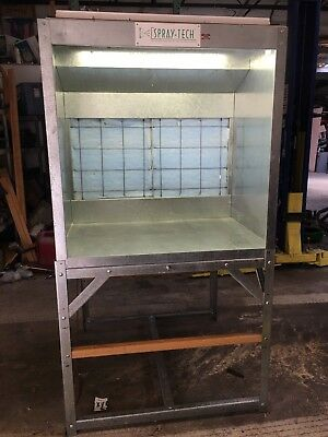 """Spray Tech Paint Booth 42"""" small parts hobby school shop lighted fan filters"""