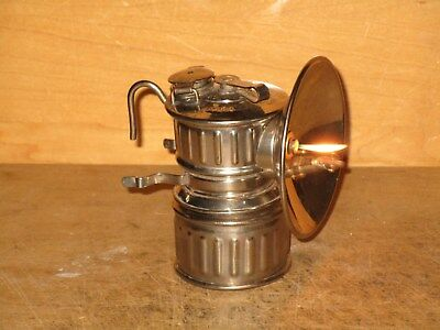 """Miners JUSTRITE """"VICTOR"""" CARBIDE LAMP- EXCELLENT!!"""