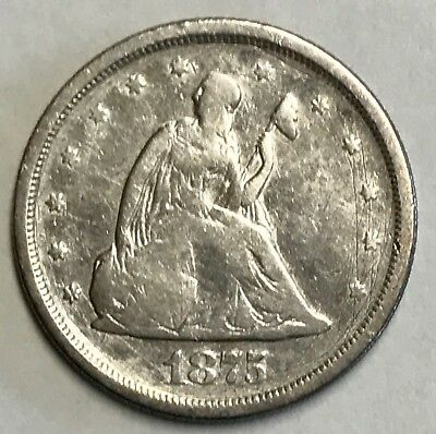 Affordable 1875-S Twenty Cent Piece - Free Shipping