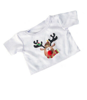 """Rudolph red nosed Reindeer T-shirt top teddy Bear clothes fits 15"""" Build a Bear"""