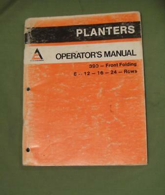 Vintage Allis Chalmers Tractor Manual Planters Operator Manual 390 Front Loading