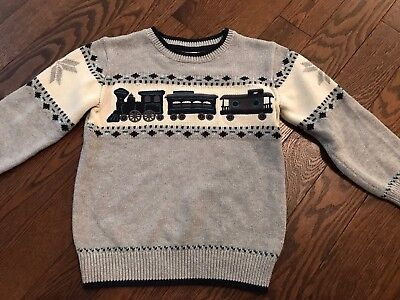 Boys Gymboree Holiday Train Sweater 4t/5t EEUC