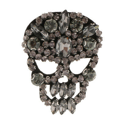Iron/Sew on Crystal Skull Patch Rhinestones Applique for DIY Sewing Clothing
