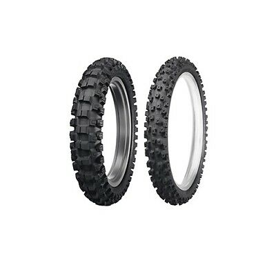 DUNLOP MOTORCYCLE TIRE Combo Geomax MX-52 Front 70/100-17, Rear 90/100-14