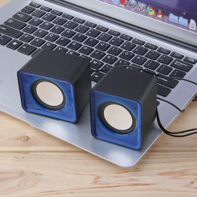 Portable USB 2.0 Multimedia Desktop Computer Notebook Mini Speaker 3.5mm Jack WW
