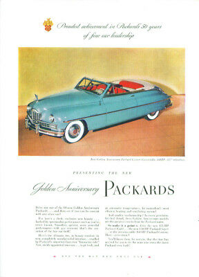 Presenting the Golden Anniversary Packard ad 1949
