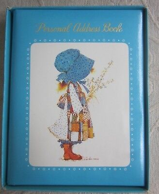 rare retro 1970s Blue HOLLY HOBBIE personal ADDRESS BOOK Unused  ORIGINAL BOX