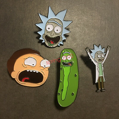 Rick and Morty Rick Morty Pickle Rick Badge Button Brooch Chest Pin Gift