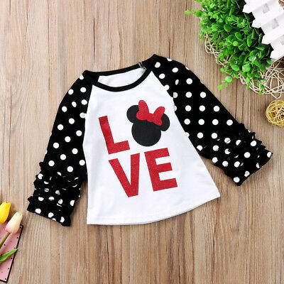Little Kids Baby Girls Child Tees Casual Long Sleeve T-shirt Tops Shirts Clothes