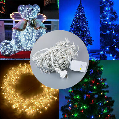 AU 800 LED Lights In/Outdoor Fairy String Festival Party Wedding Lighting Xmas