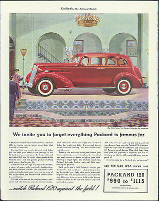 We invite you to forget everything Packard is famous for ad 1936