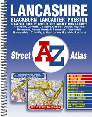 Lancashire Street Atlas (spiral) by Geographers A-Z Map Company Spiral bound The