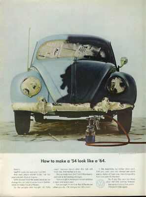 How to make a '54 look like a '64 Volkswagen ad 1964