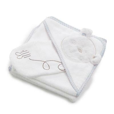 Obaby B is for Bear Hooded Towel Set (Blue) - Perfect for Bathtime