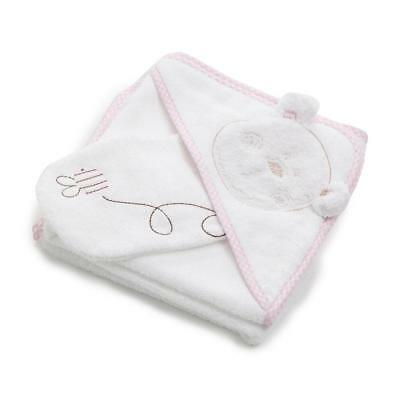 Obaby B is for Bear Hooded Towel Set (Pink) - Perfect for Bathtime