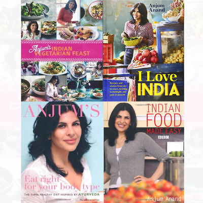 Anjum Anand Collection 4 Books Set Indian Food Made Easy,I Love India Paperback