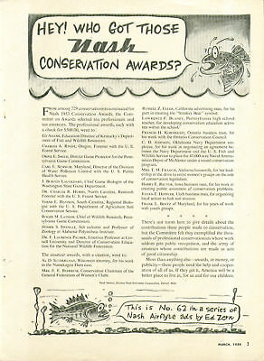 Hey! Who got those Nash Conservation Awards? By Ed Zern ad 1954
