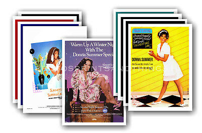 DONNA SUMMER - 10 promotional posters  collectable postcard set # 1